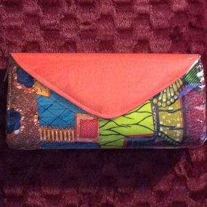 Handbags - New, large orange flap, authentic African print